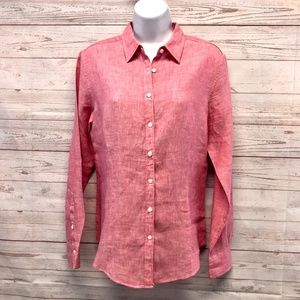 Brooks Brothers 100% Linen Blouse